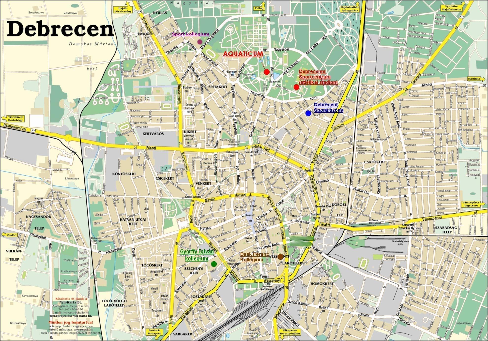 www debrecen térkép terkep www debrecen térkép